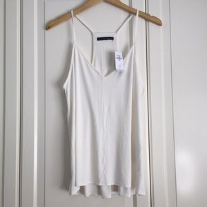 Abercrombie & Fitch Ivory Ribbed Cami